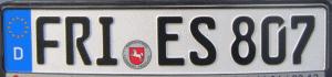 Duitse Kentekenplaat