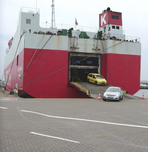 auto's op boot transport
