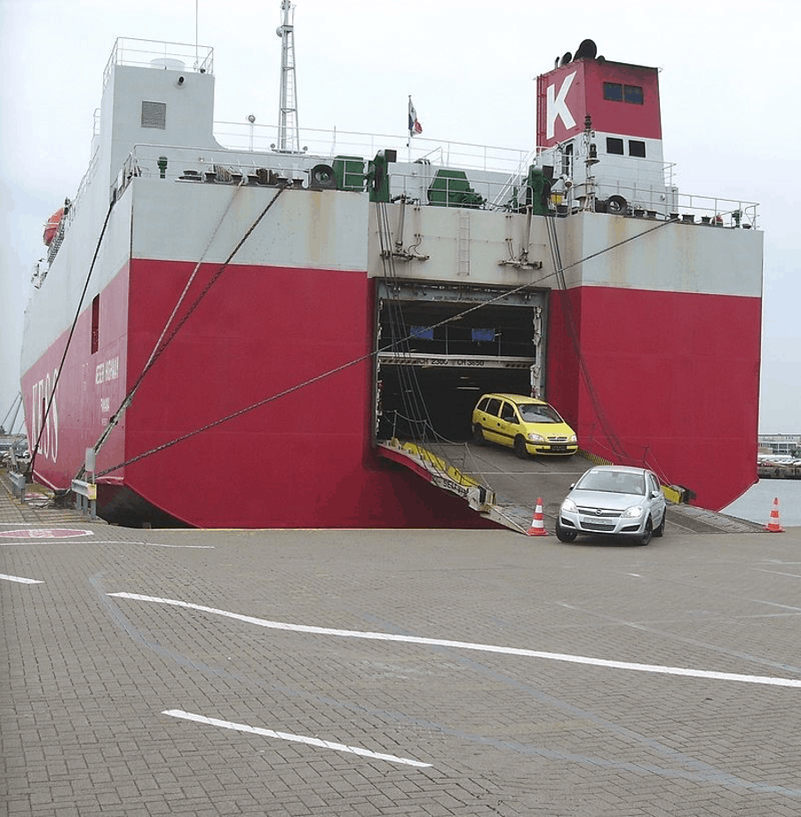 auto's op boot transport